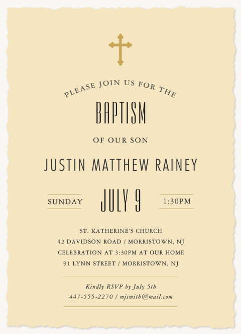 Blessed Baby Baptisms & Christening Invitations