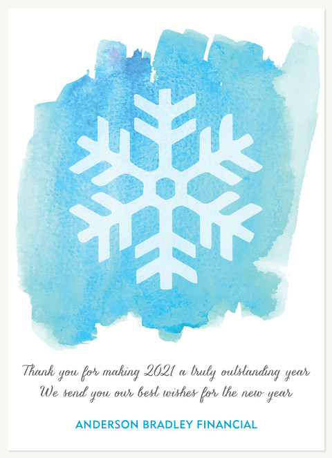 Snowy Watercolor Business Holiday Cards