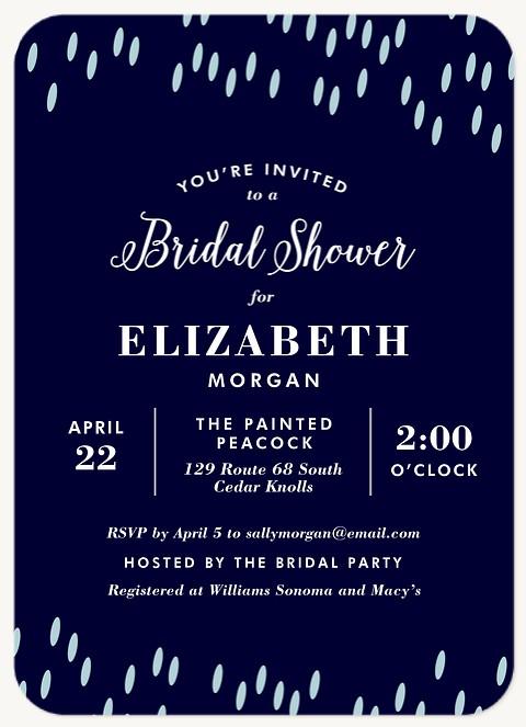 Spring Showers Bridal Shower Invitations