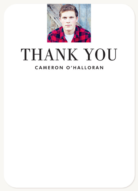 Bold Announcement Thank You Cards
