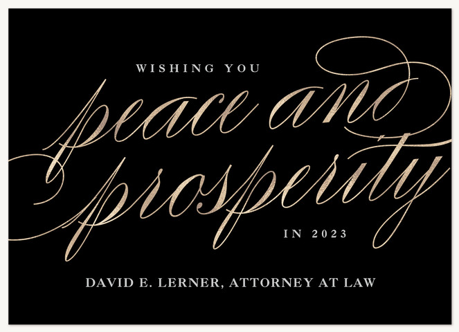 Peaceful Elegance Business Holiday Cards