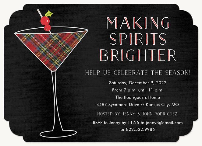 Making Spirits Brighter Holiday Party Invitations