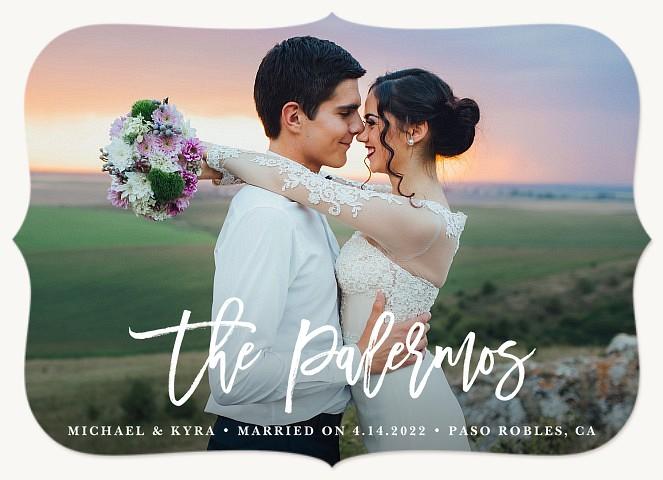 New Signature Wedding Announcements