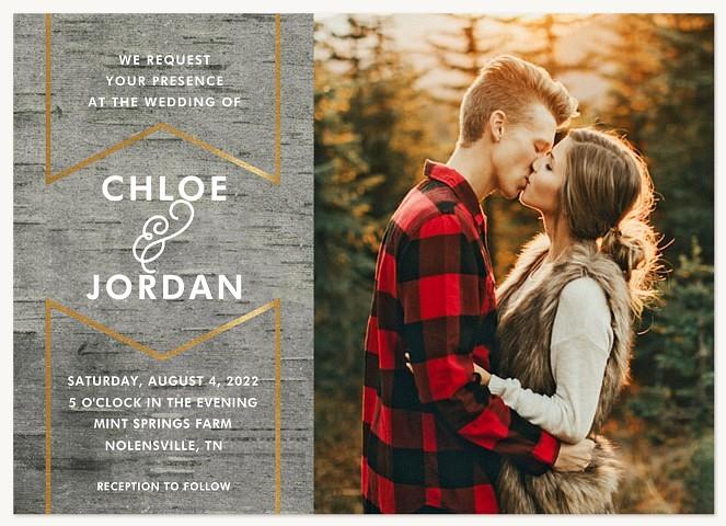 Birch Banner Wedding Invitations