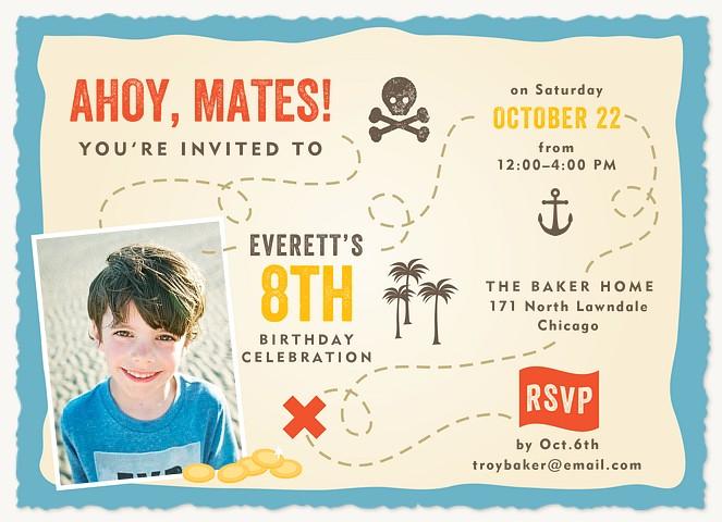 Treasure Map Kids Birthday Invitations
