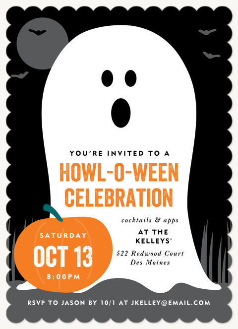 Ghosted Halloween Party Invitations