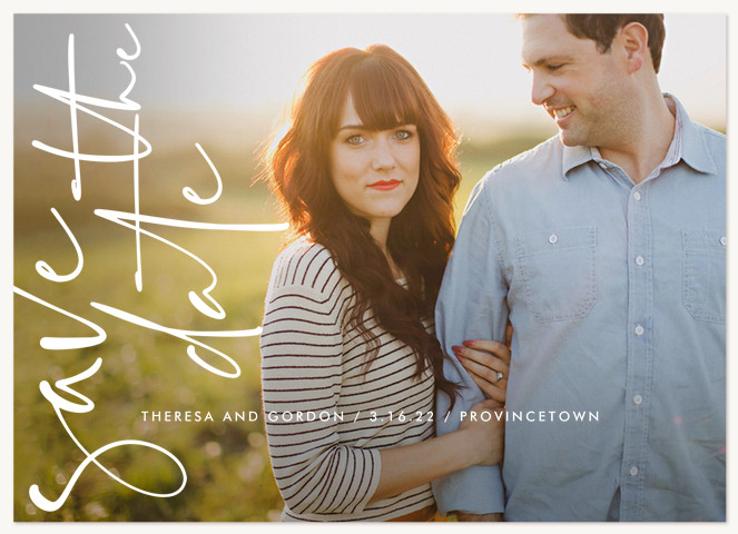 Modern Writing Save the Date Cards