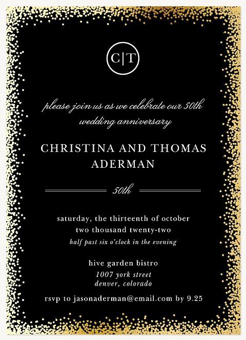 Ultra Elegant Wedding Anniversary Invitations
