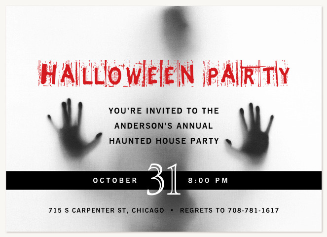 Outbreak Halloween Party Invitations