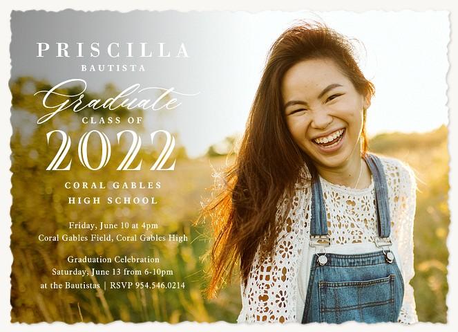 Editorial Type Graduation Invitations
