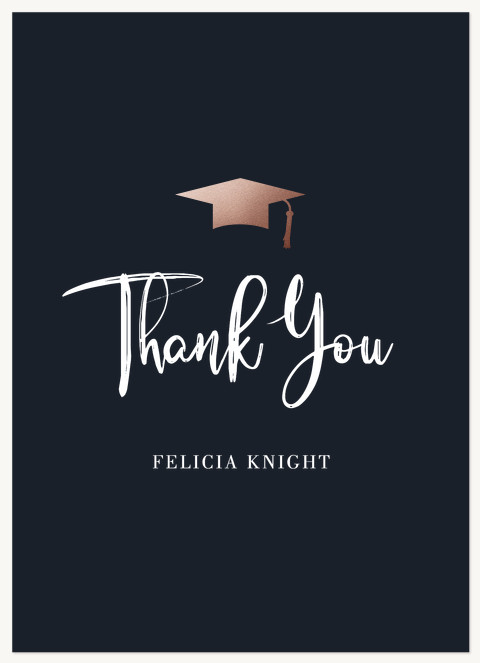 Brushed Script Thank You Cards