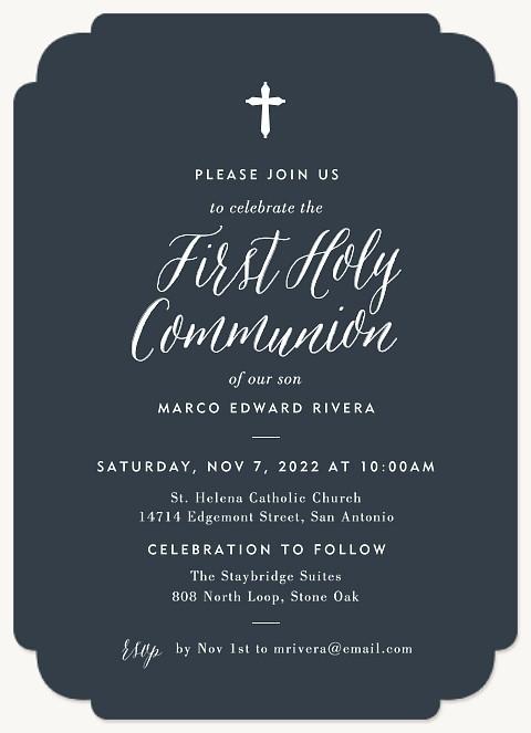 Modern Communion First Communion Invitations