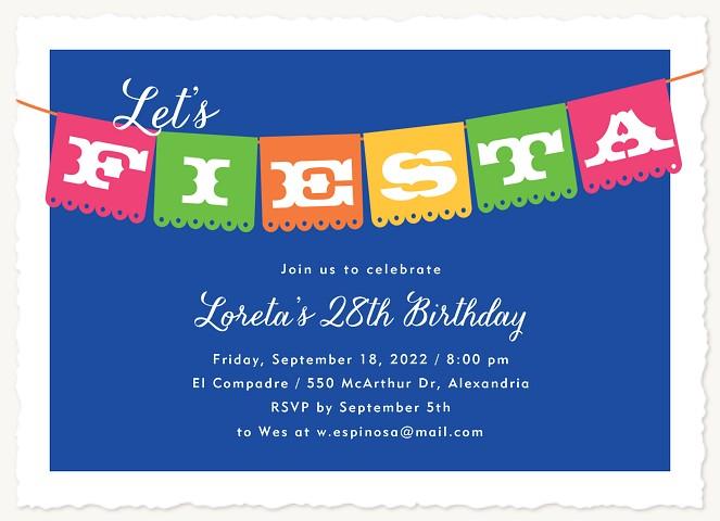 Fiesta Banner Adult Birthday Party Invitations