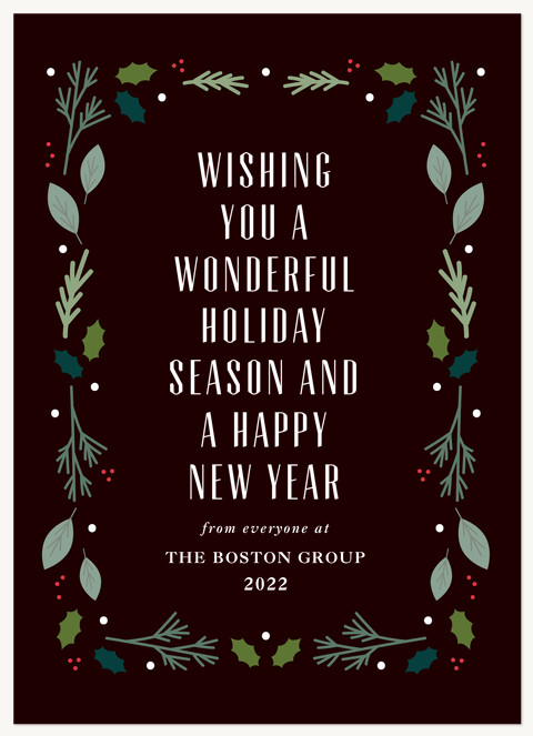 Frame of Gerens Business Holiday Cards