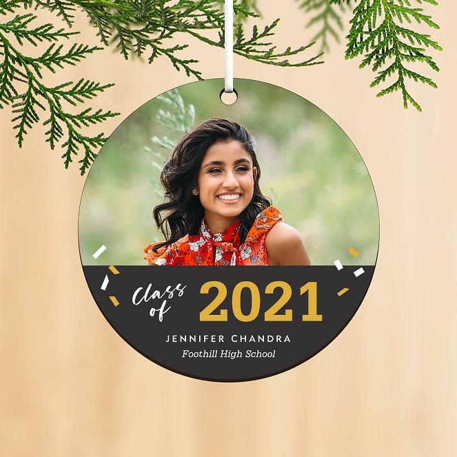 Confetti Grad Personalized Ornaments
