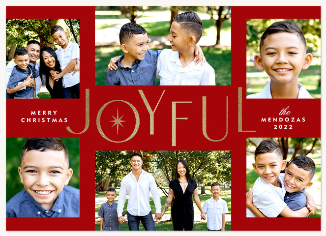Full of Joy Personalized Holiday Cards