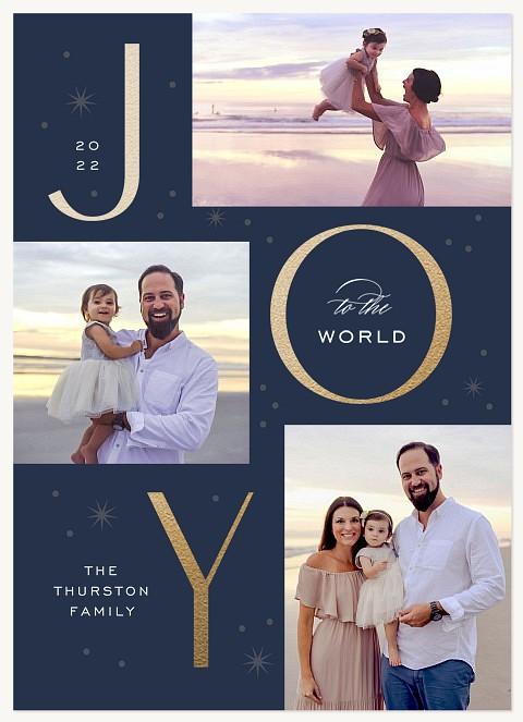Joyful Trio Personalized Holiday Cards