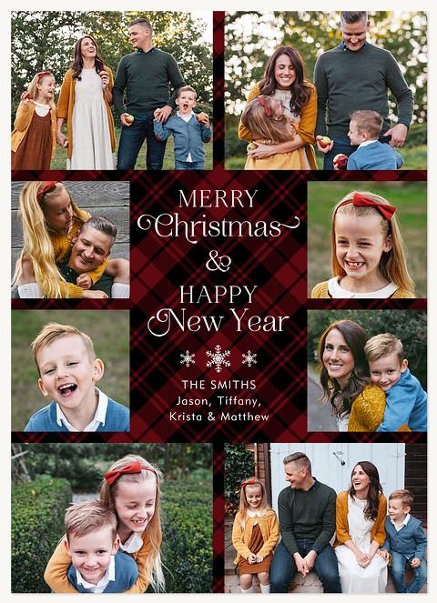 Farmhouse Tartan Personalized Holiday Cards